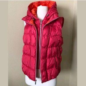 Michael Kors Zip Up Puffer Quilted Goose Down Vest